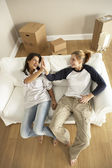 Girlfriends Moving Into New Home — Stock Photo