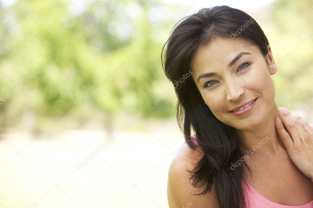 Portrait Of Young Woman In Park — Stock Photo #4822263