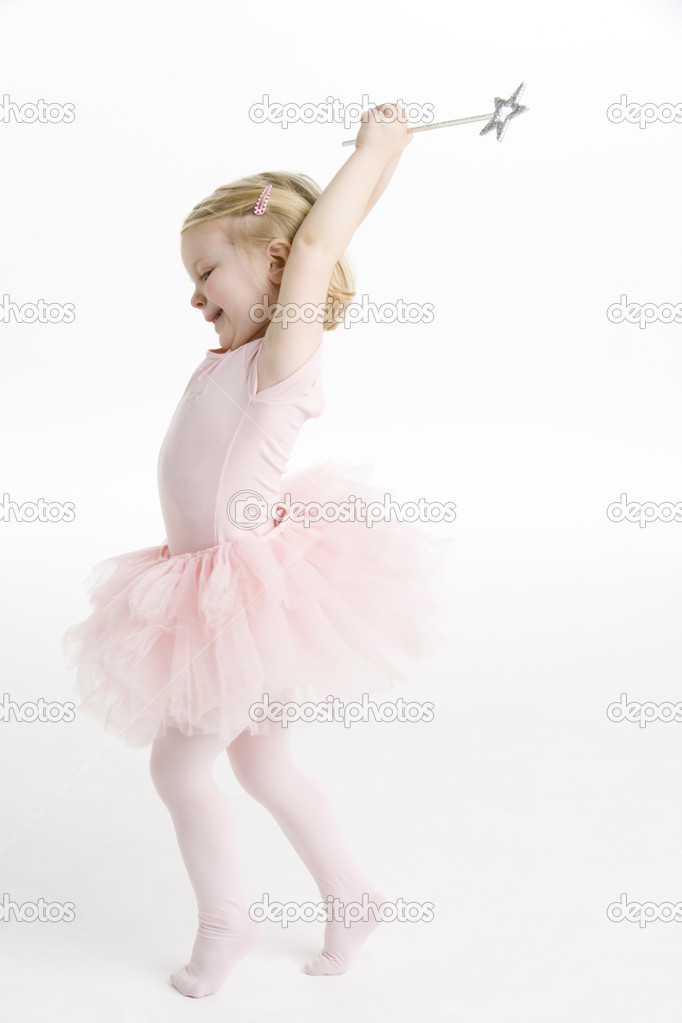 Little Ballerina Dancing  Stock Photo #4823469