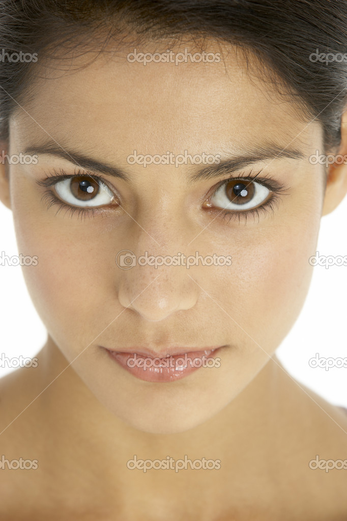 Portrait Of Serious Young Woman — Stock Photo #4823635