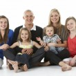 Shot Of Family Group Sitting In Studio — Stock Photo #4835414