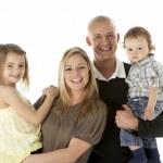 Studio Shot Of Family Group In Studio — Stock Photo