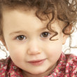 Close Up Studio Portrait Of Smiling Young Girl — Stock Photo #4835605