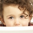 Close Up Studio Portrait Of Smiling Young Girl — Stock Photo #4835607