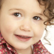 Close Up Studio Portrait Of Smiling Young Girl — Stock Photo #4835609