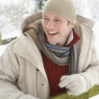 Stock Photo: MStanding Outside In Snowy Landscape