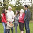 Stock Photo: Extended Family Group On Walk Through Countryside