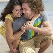 Affectionate Young Couple Having Fun On Beach — Stock Photo #4836822