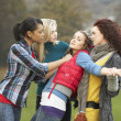 Group Of Female Teenagers Bullying Girl — Stock Photo