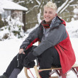 Teenage Boy With Sledge — Stock Photo #4837332
