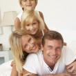 Portrait Of Young Family — Stock Photo