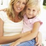 mulher e criança — Foto Stock