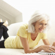 Senior Woman Using Laptop — Stock Photo #4838762