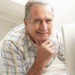 Senior Man Using Laptop — Stock Photo #4838765