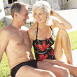 Senior Couple Relaxing by — Stock Photo #4838781