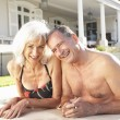 Senior Couple Relaxing by — Stock Photo