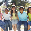 Group Of Children Riding On — Stock Photo #4838804