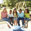 Group Of Children Riding On — Stock Photo