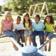 Group Of Children Riding On — Stock Photo #4838811