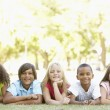 Five young friends - Stock Photo