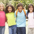 Group Of Schoolchildren - Stock Photo