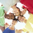 Group Of Teenagers Looking Down Into Camera — Stock Photo #4838932
