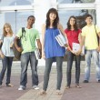 Group Of Teenage Students Standing Outside College Building — Stock Photo #4838965