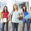 Group Of Teenage Students Standing Outside College Building — Stock Photo #4838975