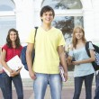 Group Of Teenage Students Standing Outside College Building — Stock Photo #4838977