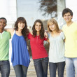 Group Of Teenage Students Standing Outside College Building — Stock Photo #4838982