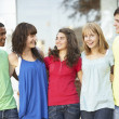 Group Of Teenage Students Standing Outside College Building — Stock Photo #4838984