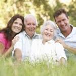Family outdoors — Stock Photo #4839362