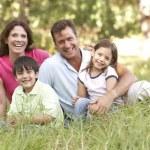 Family outdoors — Stock Photo #4839377