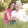 Stock Photo: Senior Woman With Adult
