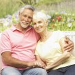 Senior Couple Relaxing In Garden — Stock Photo #4839925