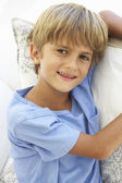 Portrait Of Young Boy Relaxing — Stock Photo