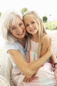 Portrait Of Grandmother With — Stock Photo