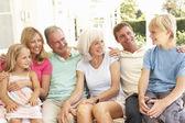 Family Sitting — Stock Photo