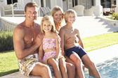Family Outside Relaxing By — Stock Photo
