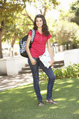 Female Teenage Student In Park — Stock Photo