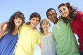 Group Of Teenage Friends Standing Outside — Stock Photo