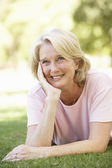 Portrait Of Senior Woman In Park — Stockfoto