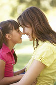 Portrait Of Mother And Daughter Together In Park — Stock Photo