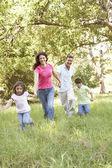 Family Enjoying Walk — Stock Photo