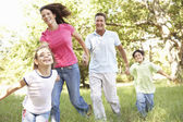 Family Enjoying Walk — Stock Photo