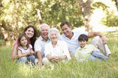 Family outdoors — Stock Photo
