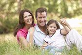 Family outdoors — Stockfoto