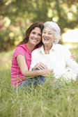 Senior Woman With Adult — Stock Photo