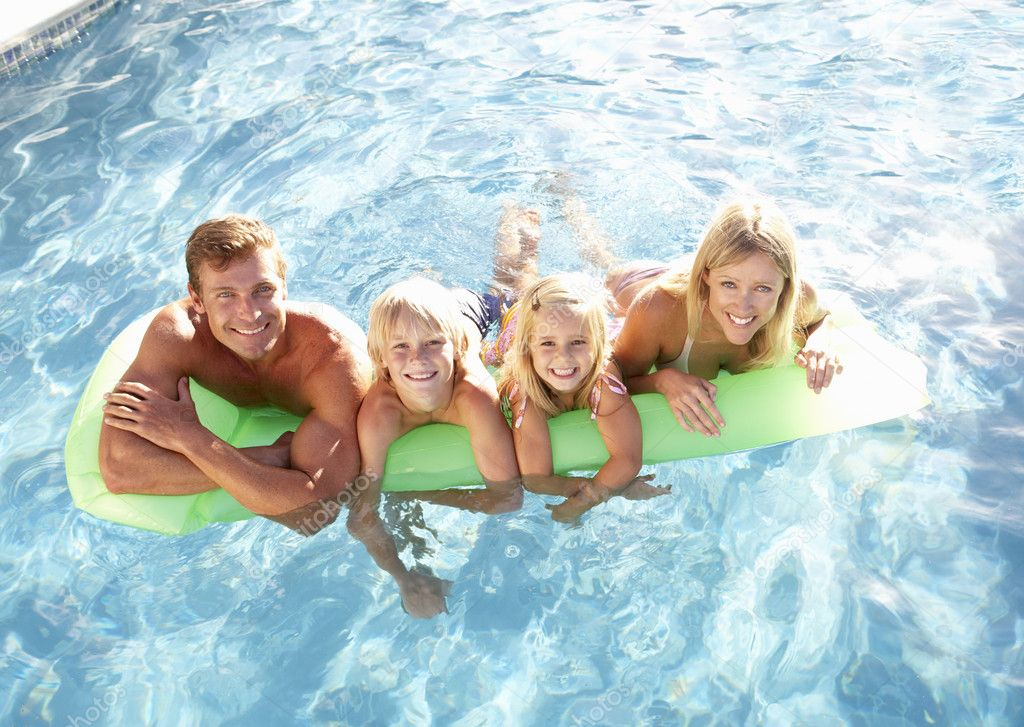 Children, in pool  — Stock Photo #4838798