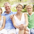 Family Relaxing In Garden — Stock Photo #4840127